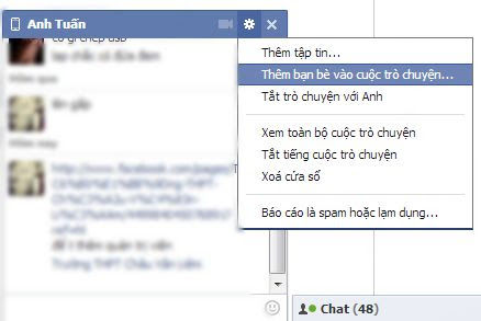 Cách chat nhóm trên facebook