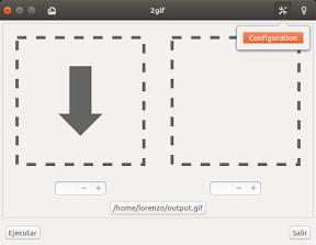 convertir video a gif - configuración