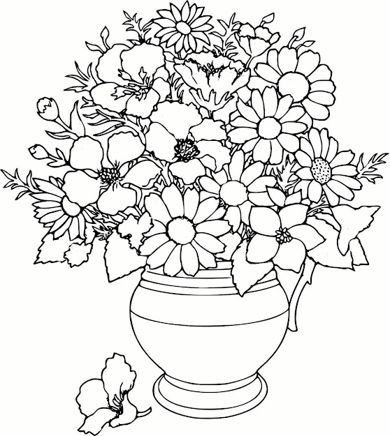 Coloring Pages Printable Flower  Coloring Pages For Flowers Coloring Pages  Amusing Flower Coloring Pages Flowers