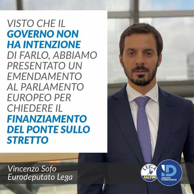 *Ponte sullo Stretto, Sofo (Lega) presenta emendamento per includerlo nel progetto europeo Ten-T*