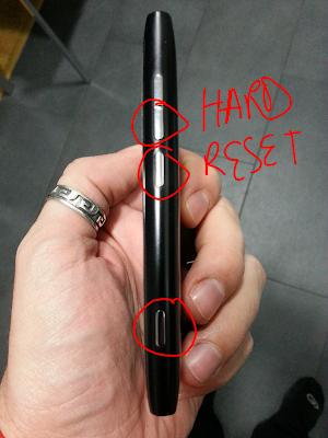 Hard reset Nokia Lumia 800