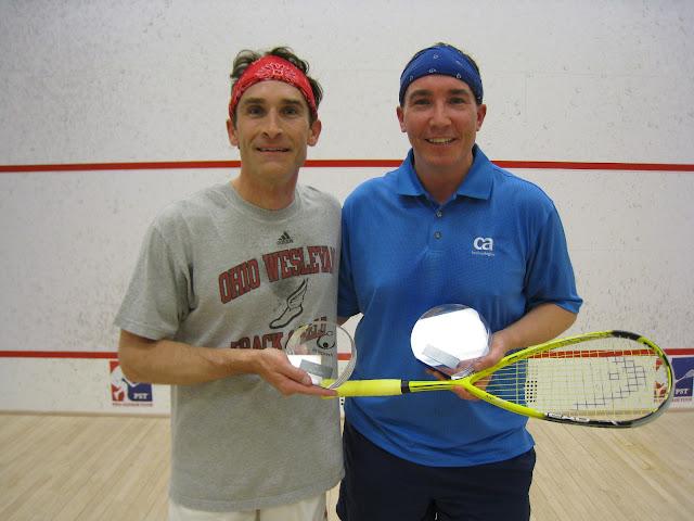 Darby Buroker (finalist) and Chris Lang (winner) after a tough 40+ match!