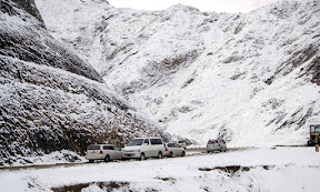 The snowfall season of Balochistan covers all four mountains surrounding Quetta in a carpet of white. Other cities of the province, including Chaman and Ziarat, are also engulfed in the snow with cold gusts of wind blowing throughout the day.