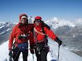 Andy & Paul. Breithorn (4164), Valais, Switzerland 2008
