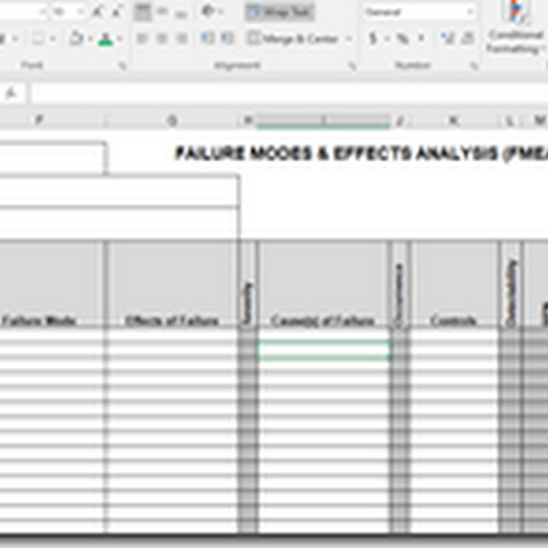 Failure Modes and  Effects Analysis Template