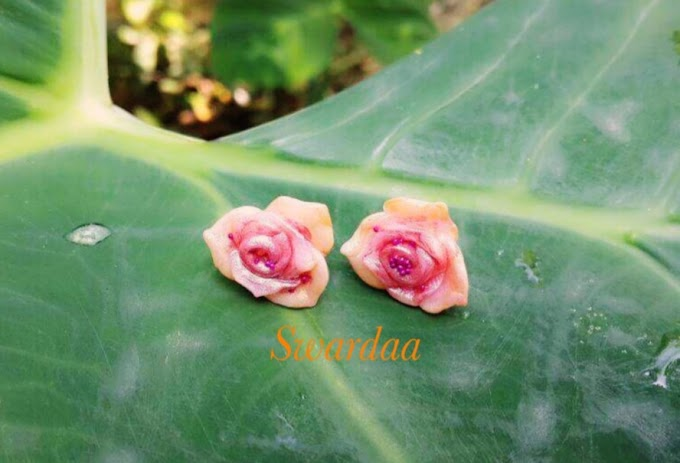 Hand-formed Rose Earrings