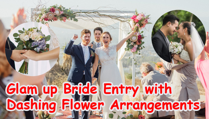 Glam up Bride Entry with dashing flower arrangments