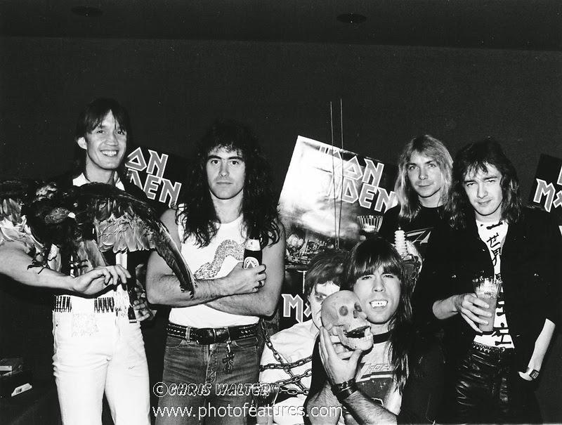 1983 Nicko McBain, Steve Harris, Bruce Dickinson,Dave Murray and Adrian Smith