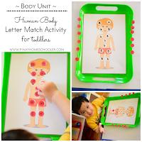Human Body Letter Match Activity
