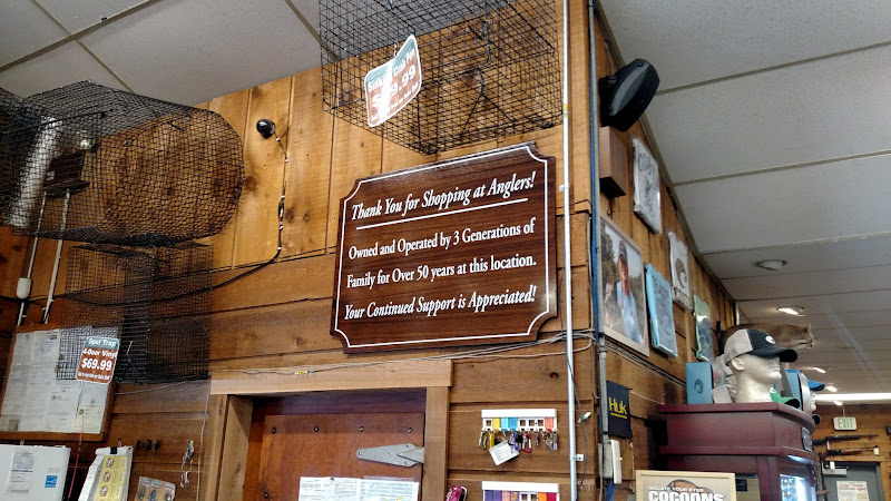Anglers teak sign