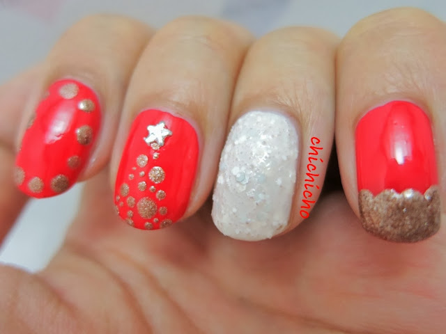 White Christmas Nail Art Revlon Perfumerier China Flower Belgravia