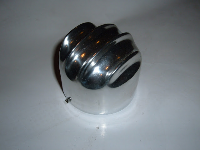 "This polished aluminum  cap cover slips over 2 1/2"" size breathers for a custom look. 25.00"
