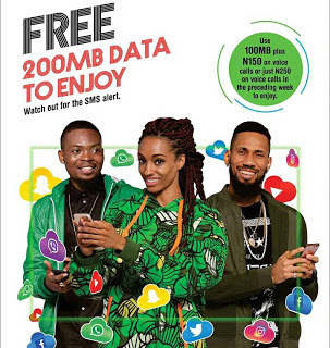 Glo free 200mb 7days