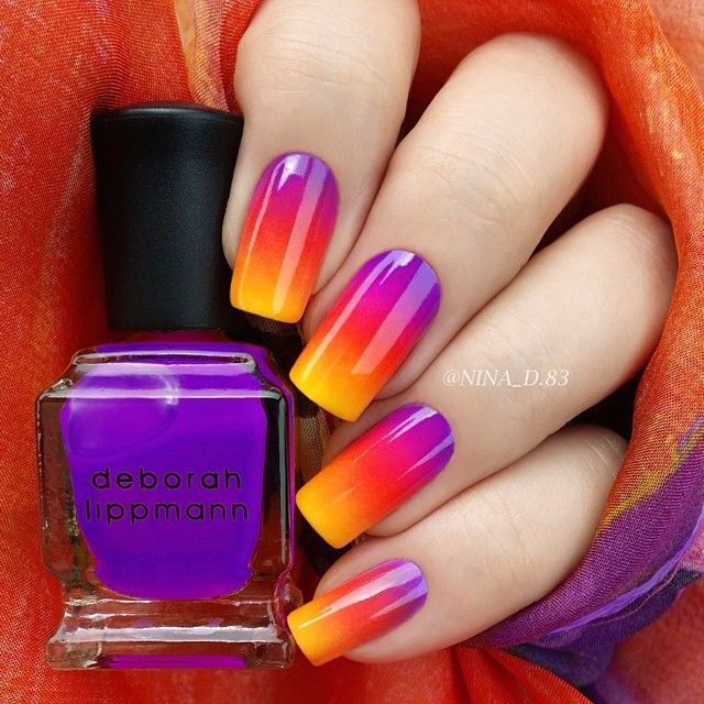 SPLENDID NEON COLORS OMBRE NAILS DESIGN FOR LADIES 6