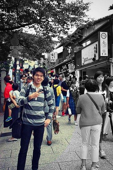 Suasana Keramaian di sepanjang Gang menuju Kiyomizudera Temple