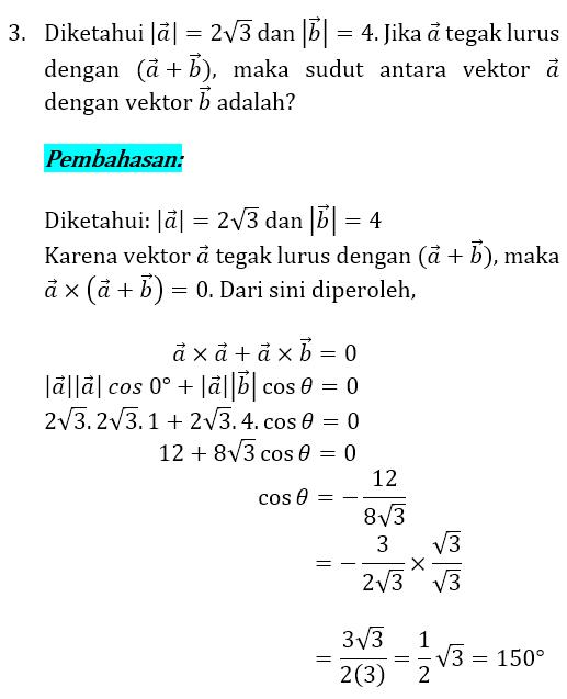 Soal dan Pembahasan Vektor 3