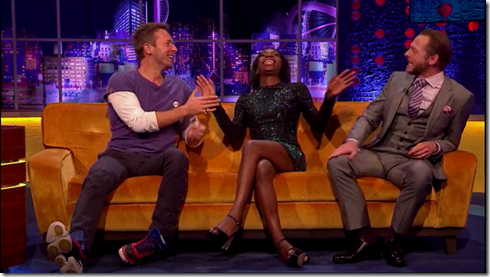 The Jonathan Ross show Coldplay Simon Pegg19