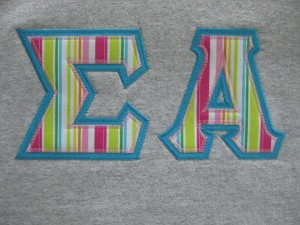 sew what sorority letters shirts
