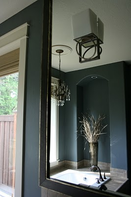Black Velvet Chair Jewel Box Bathroom Inspiration