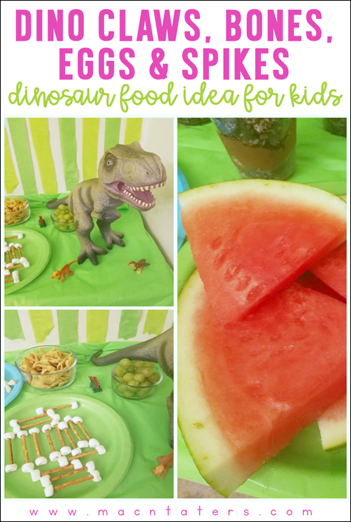Dinosaur Themed Food IDeas for Kids: Dinosaur Claws, Dinosaur Bones, Dinosaur Eggs, Dinosaur Spikes