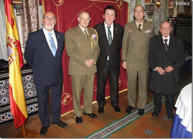 Con el Teniente General de la Corte, anterior Jefe del Cuarto Militar y el Tcol. Bordonado, destinado en el mismo