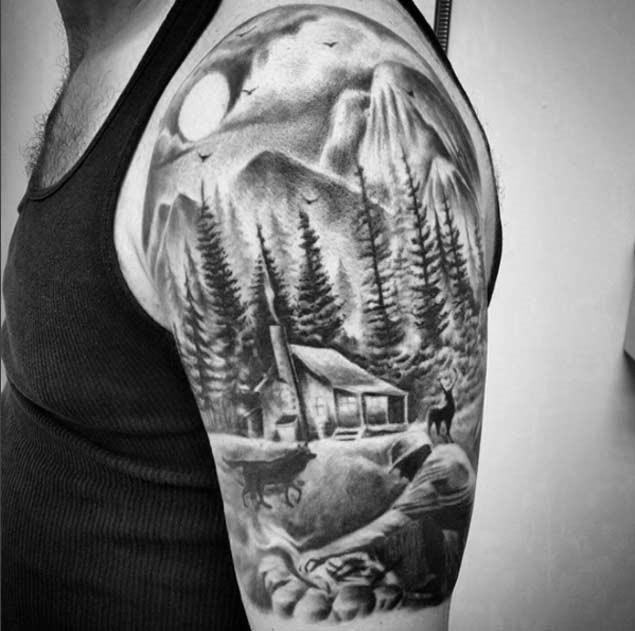 Esta cabana na floresta