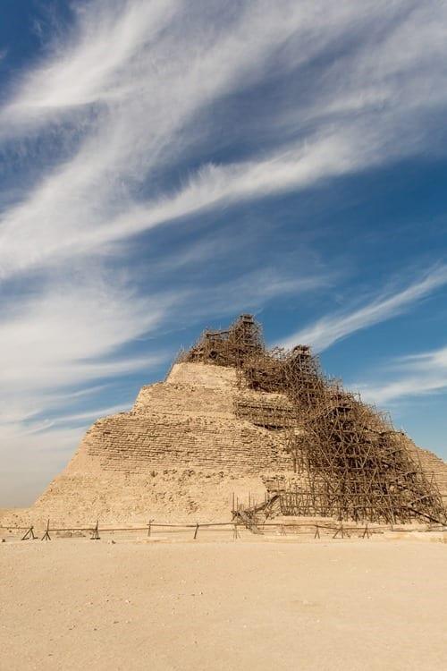 Pyramid of Djoser at Saqqara  Cairo Egypt