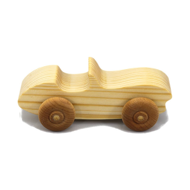 Handmade Wooden Toy Car Convertible Sports Coupe Snazzy Ripsnorter