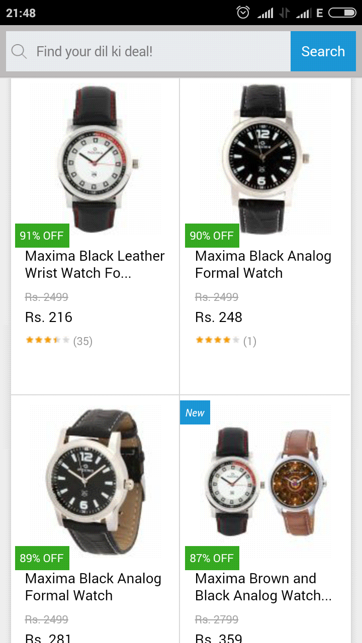 offerbell android screenshot watches com from chrome maxima upto off snapdeal