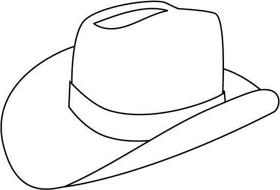 Pinto Dibujos: Sombrero vaquero para colorear