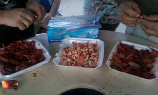 Bagging Crawfish, Leftover Crawfish