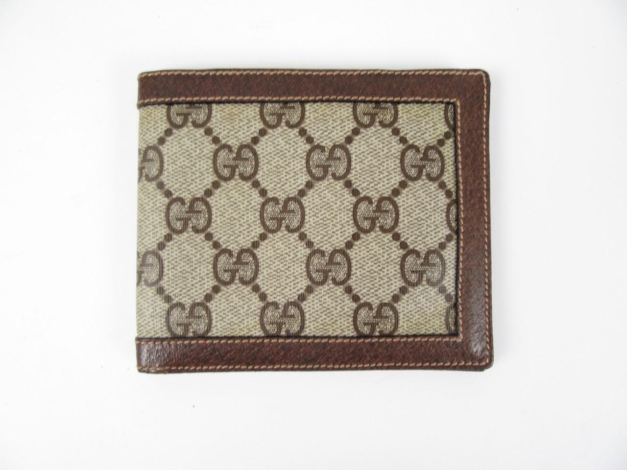 Gucci Vintage Monogram Bi-Fold Wallet