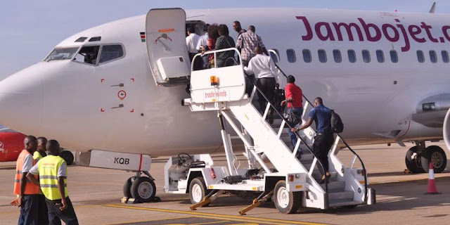 Jambojet at Mombasa international . PHOTO | NMG