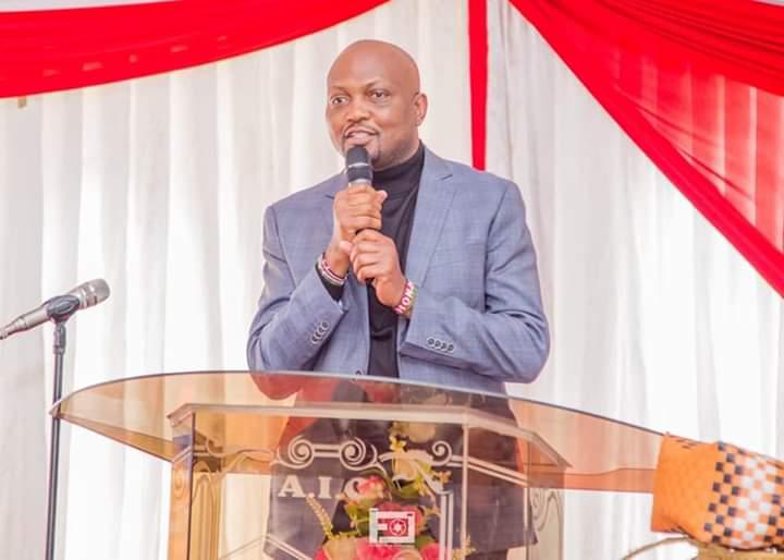 Moses Kuria at AIC church. PHOTO | BMS