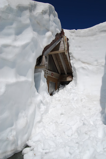 The bathrooms are still snowed in at Artist Point in July! / Credit: Bellingham Whatcom County Tourism
