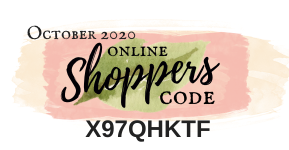 October 2020 Online Shoppers Code | Nature's INKspirations by Angie McKenzie