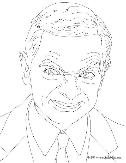 Mr Bean Colouring Page  Coloring Page  Famous People Coloring Pages   Famous British People