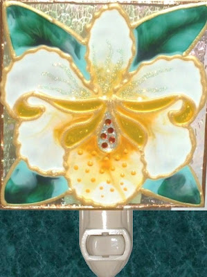 Yellow Orchid Tropical Flower Night Light