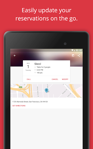 Screenshot 17 for OpenTable's Android app'