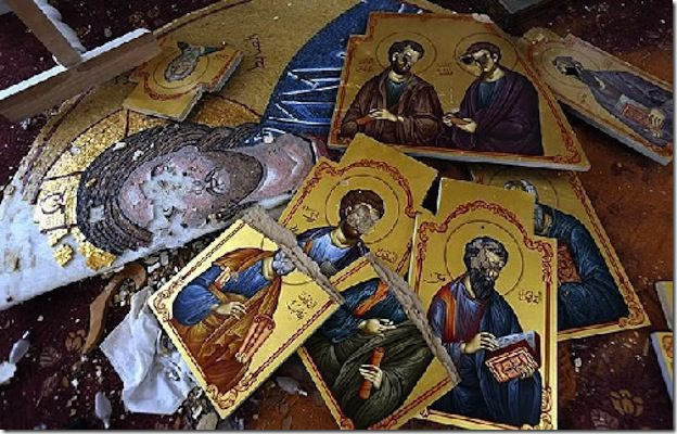 zerstörte syrische Ikonen