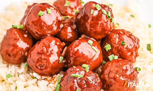 Crockpot Honey Garlic Meatballs