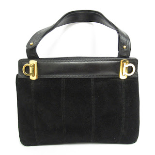 Salvatore Ferragamo Black Suede Bag