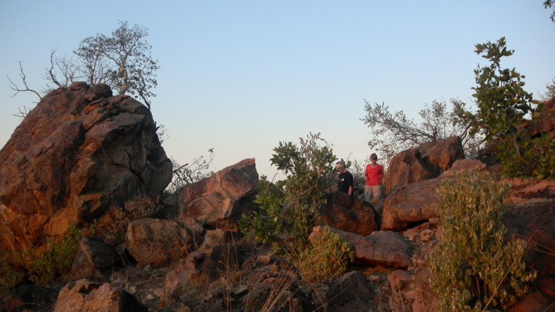 Tuli Block - hiking on a nearby kopje