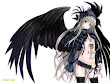 Anime Gothic Angel With Scull
