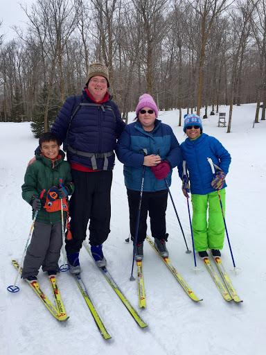 Ed D'Avignon family after a Saturday morning ski lesson