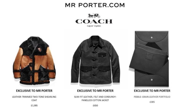 Diary of a clotheshorse exclusive coach x mr porter for Mr porter live
