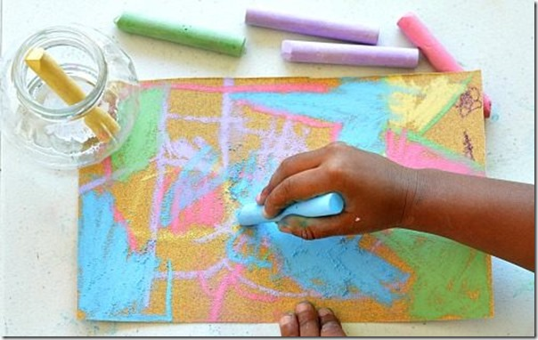 Sand Paper Art for Kids - This is such a fun kids activity for kids of all ages!