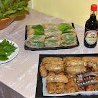 En entrée...de délicieux rouleaux de printemps confectionnés avec soin par Adeline Stern