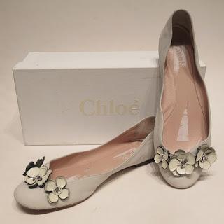 Chloé Floral Flats