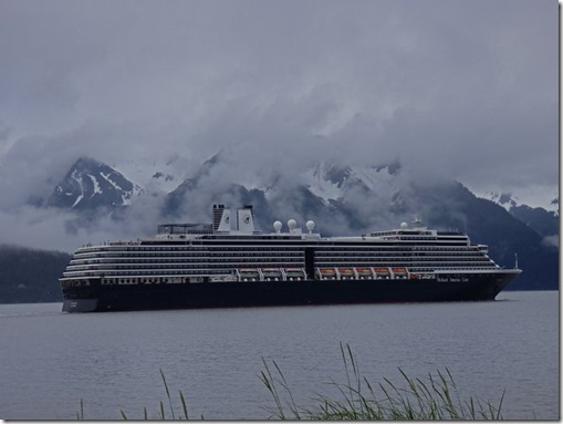 MS Noordam headed out Resurrection Bay, Seward Alaska